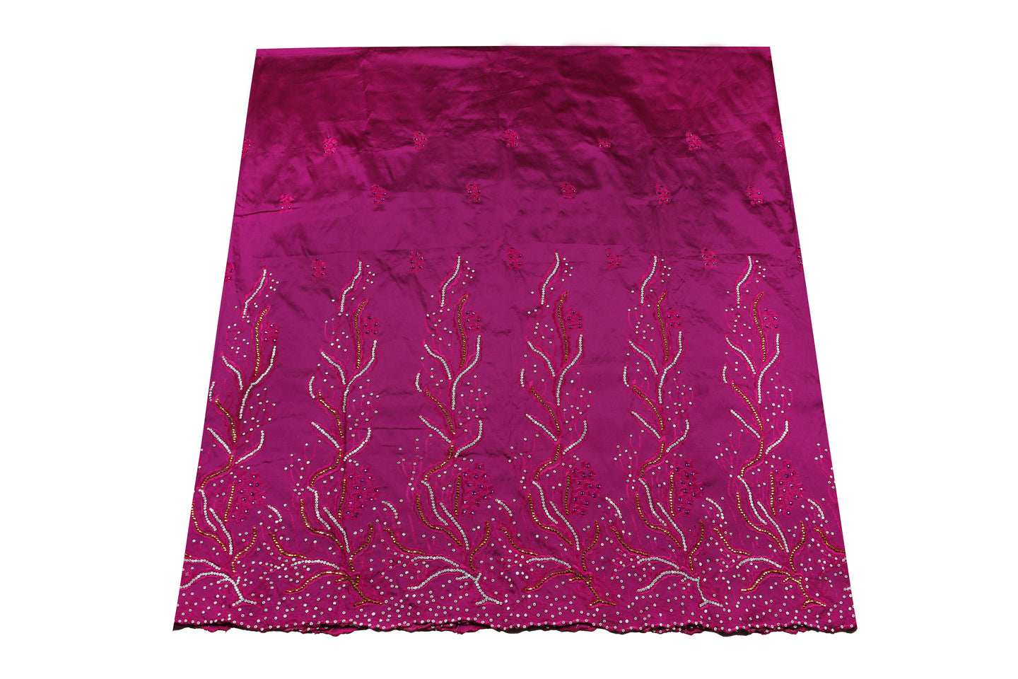 Hand Stoned George Wrapper Design # 6741 - Purple - With Blouse