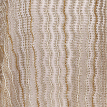 Load image into Gallery viewer, Hand Embroidered Fabric Design # 4113 - Champagne Gold - Per Yard