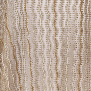 Hand Embroidered Fabric Design # 4113 - Champagne Gold - Per Yard