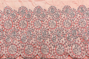 Hand Stoned George Wrapper Design # 6709 - Peach - With Blouse