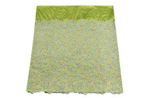 Hand Stoned George Wrapper Design # 6745 - Lime Green - With Blouse