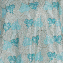 Load image into Gallery viewer, Machine Embroidered Fabric Design # 4125 -Sky Blue - 5 Yard Piece