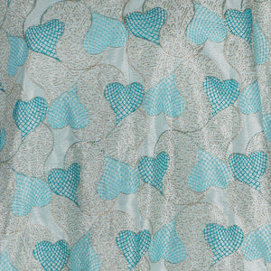 Machine Embroidered Fabric Design # 4125 -Sky Blue - 5 Yard Piece