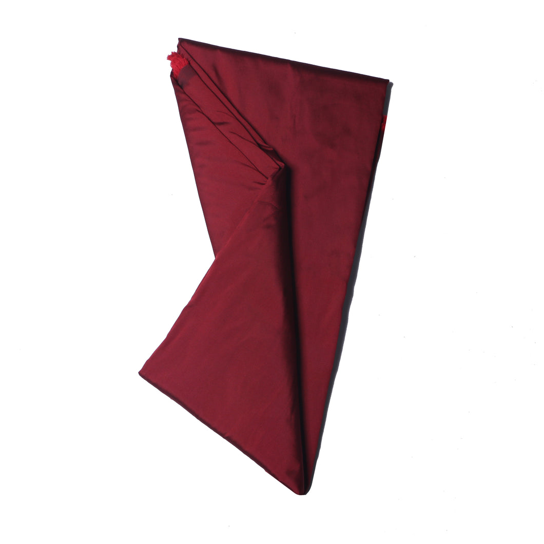 Plain Silk Taffeta - Maroon - 5 Yard Piece