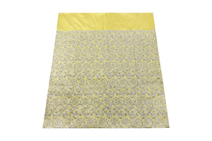 Hand Stoned George Wrapper Design # 6753 - Yellow - With Blouse