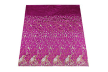 Load image into Gallery viewer, Hand Stoned George Wrapper Design # 6738 - Magenta - With Blouse