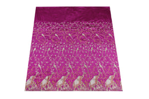Hand Stoned George Wrapper Design # 6738 - Magenta - With Blouse