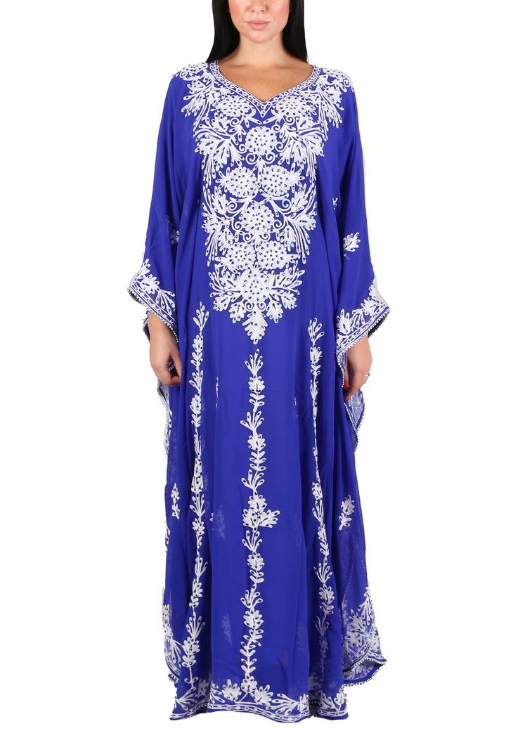 Kaftan Design # 7203 - Royal Blue - Free Size