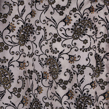 Load image into Gallery viewer, Machine Embroidered Fabric Design # 4123 - Gold with Black - 5 Yard Piece