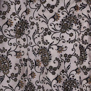 Machine Embroidered Fabric Design # 4123 - Gold with Black - 5 Yard Piece