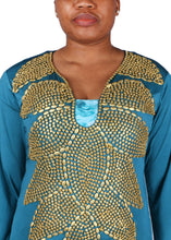 Load image into Gallery viewer, Kaftan Design # 1054 - Teal Green