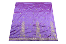 Load image into Gallery viewer, Machine Embroidered George Wrapper Design # 7102 - Lilac - Without Blouse