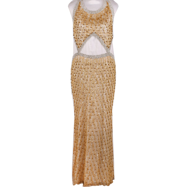Unstitched Dress Piece Design # 6003 - Gold