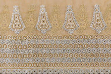 Load image into Gallery viewer, Hand Embroidered Blouse Design # 3368 - Champagne Gold - With Blouse - 1.7 Yards