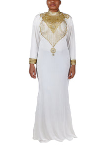 Kaftan Design # 7190 - Cream - XXL