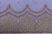 Load image into Gallery viewer, Hand Embroidered Blouse Design # 3202 - Royal Blue - 1.7 Yards