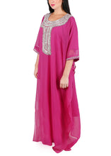 Load image into Gallery viewer, Kaftan Design # 7192 - Magenta - Free Size