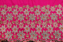 Load image into Gallery viewer, Hand Stoned George Wrapper Design # 6732 - FuchsiaPink - With Blouse