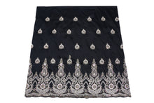 Load image into Gallery viewer, Hand Stoned George Wrapper Design # 6545 - Black - With Blouse