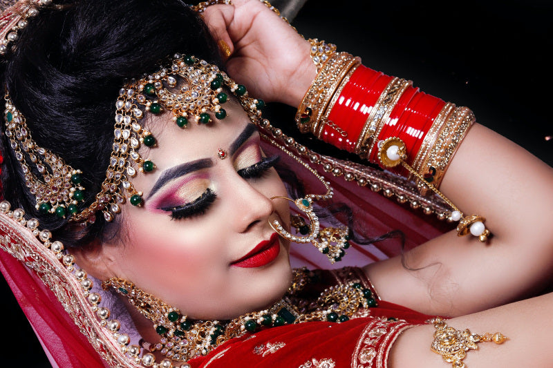 An Indian Bride Outfits on Wedding