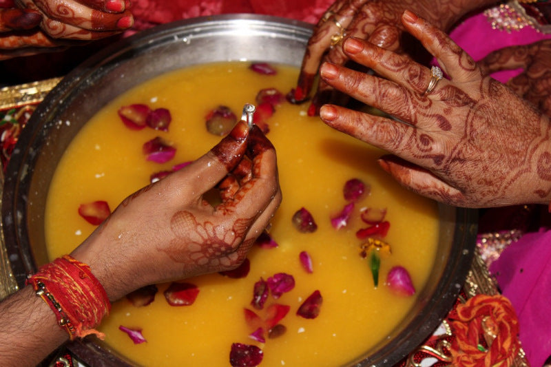 Ring Ceremony at an Indian Wedding