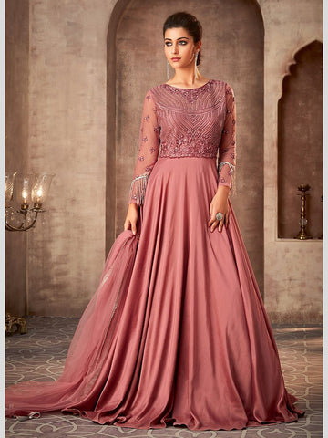 Indian Dress - Net & Silk - Anarkali