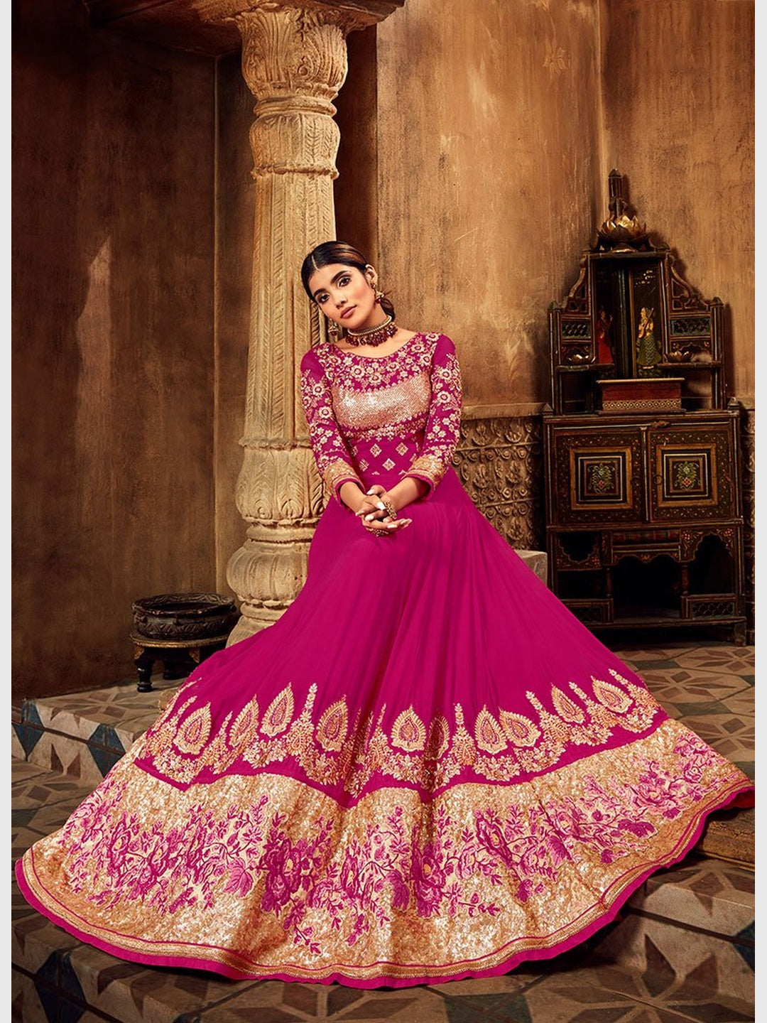 Pure Georgette & Shantoon - Anarkali