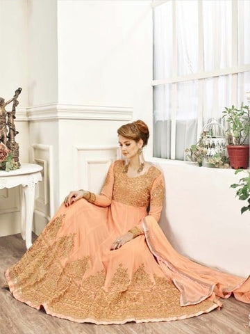 Indian Dress - Embroidery on Chiffon & Georgette