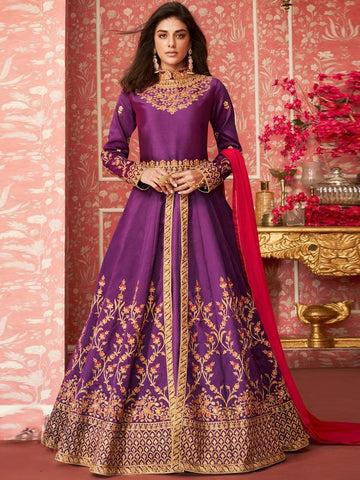 Anarkali Suits - Silk & Chiffon Anarkali