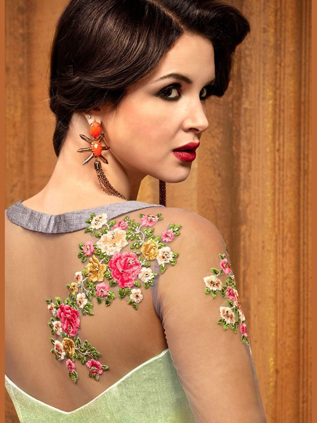 Georgette & Silk Embroidery