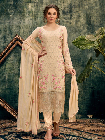 Indian Dress - Chiffon & Georgette Embroidery