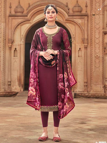 Indian Dress - Silk with Heavy Embroidery