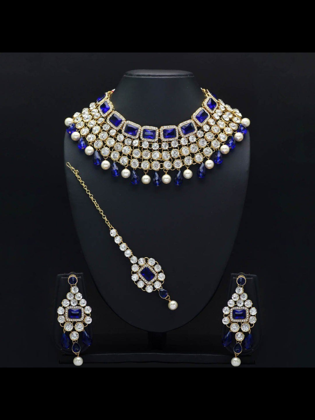 Pearl & Kundan Necklace and Tikka