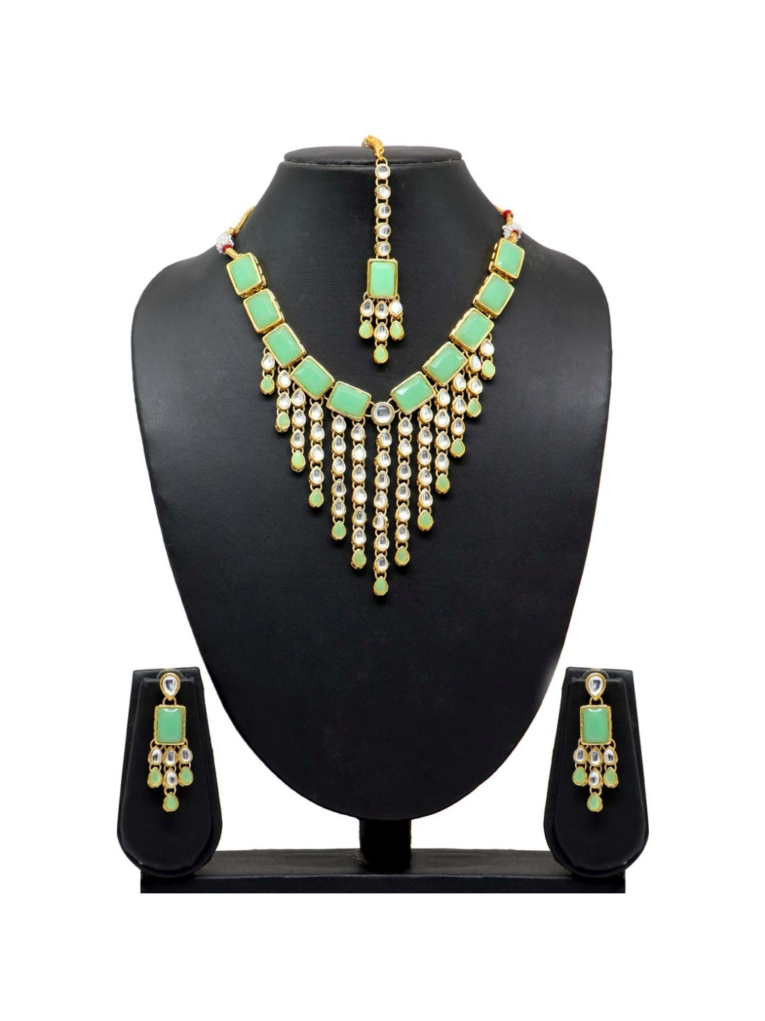 Kundan Necklace with Tikka