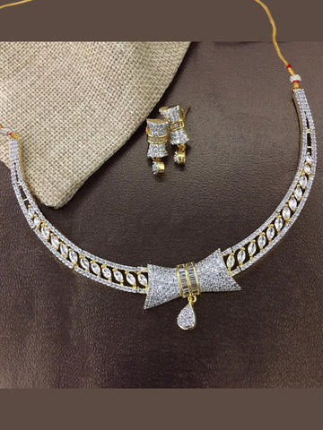 Indian Jewellery - Zirconia Necklace