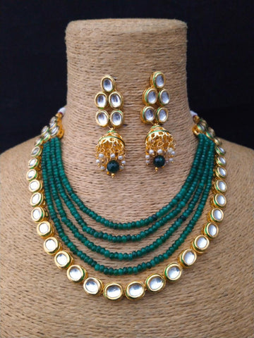 Indian Jewellery - Zirconia & Pearl Necklace