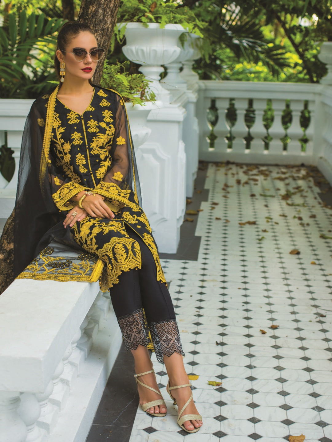 Organza & Silk - Pakistani Suit