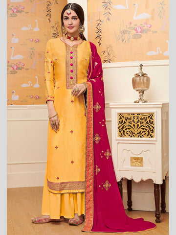Indian Dresses - Viscose Silk Embroidery