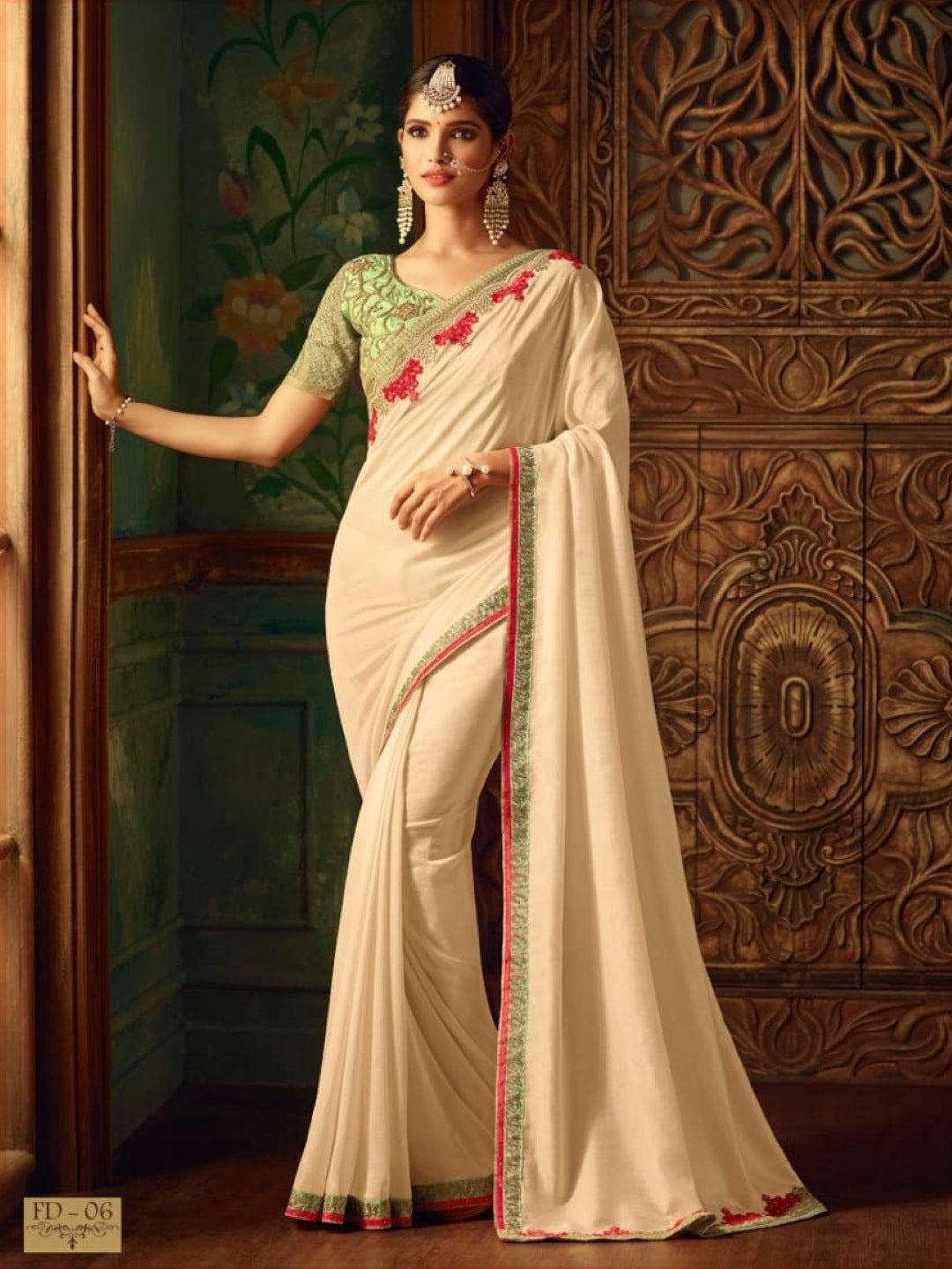 Georgette with Embroidery Work
