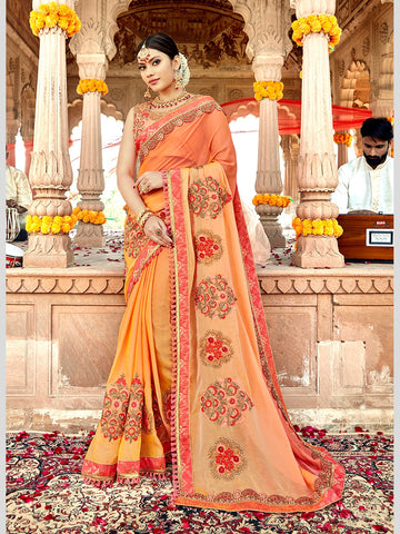 Georgette Embroidery Sari