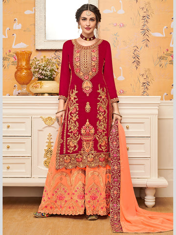 Indian Dresses - Embroidery on Georgette