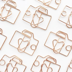 Camera Paper Clips Set Stationery - Clips alleymuse