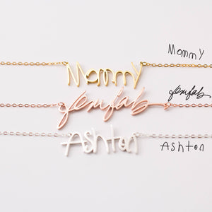 Custom Actual Handwriting Necklace Necklace - Custom AliExpress - Oralevin Official Store