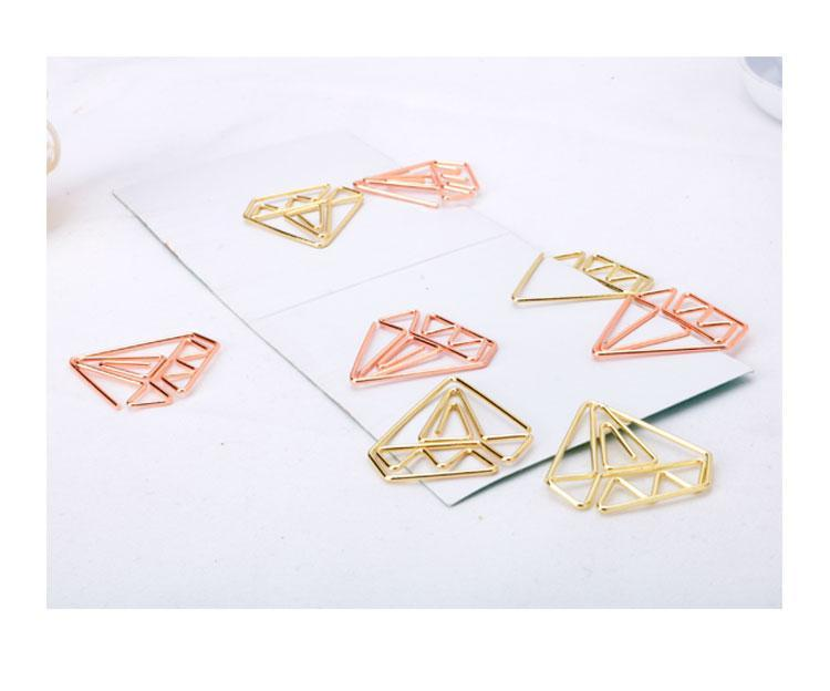 Diamond Paper Clips Set of 10 Stationery - Clips alleymuse