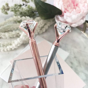 Diamond Pen - Gold Stationery - Pens alleymuse