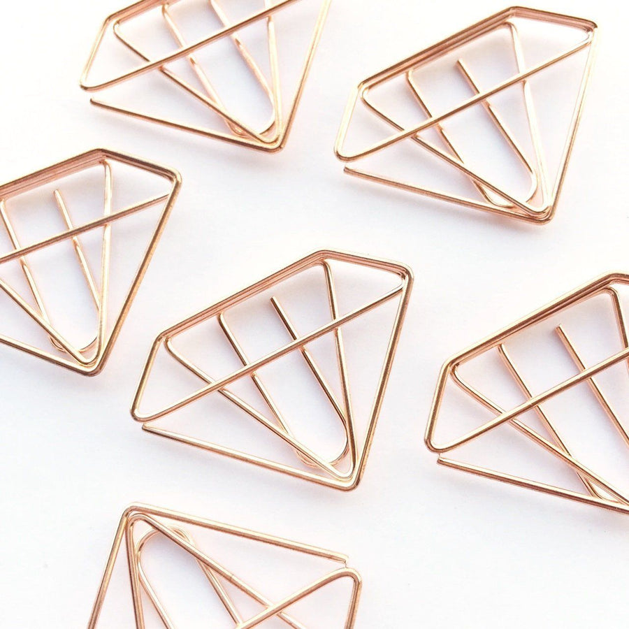 Diamond Paper Clips Set of 10