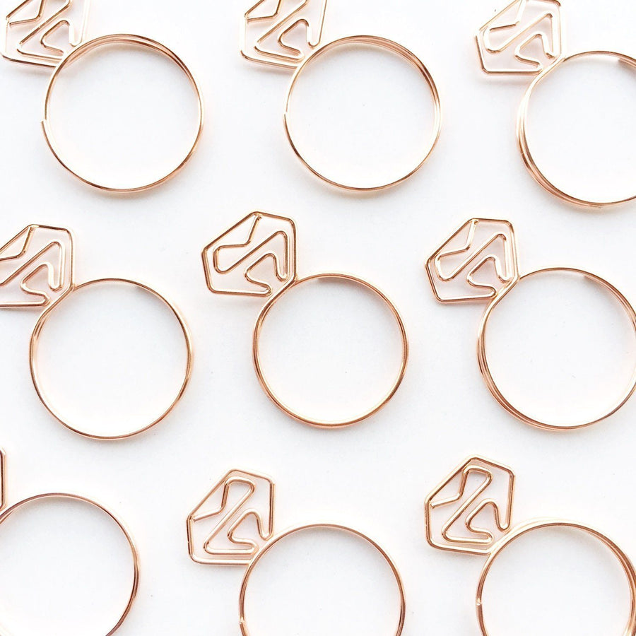 Diamond Ring Paper Clips Set