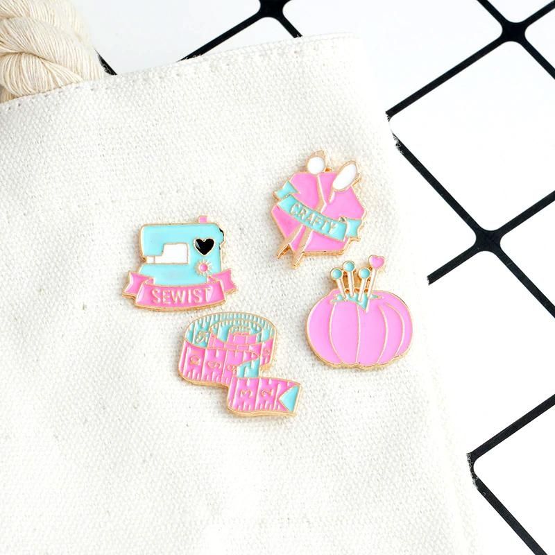 Crafty Enamel Pins Accessories - Enamel Pins alleymuse Complete Bundle Set (4)