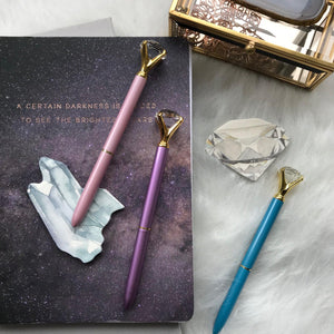 Diamond Pen - Pastel Dream Colors Stationery - Pens alleymuse