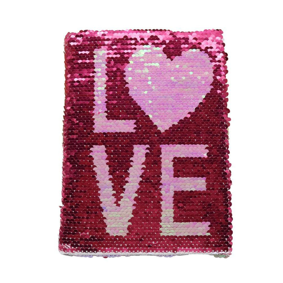 Reversible Sequin Notebook - Love Stationery - Journal alleymuse
